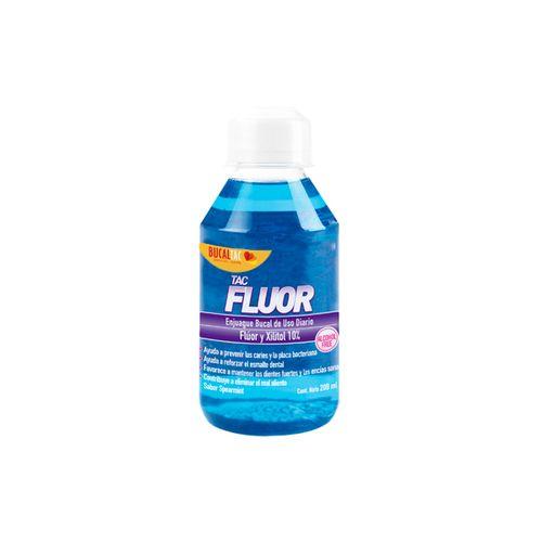 Bucal-tac-fluor-Enjuague-bucal-sin-alcohol--200-ml-Sabor-a-menta-suave